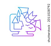 horror games gradient linear... | Shutterstock .eps vector #2011028792