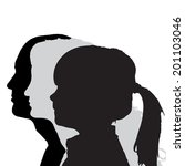 vector silhouettes family in... | Shutterstock .eps vector #201103046