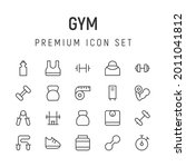 premium pack of gym line icons. ...