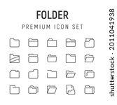 premium pack of folder line...