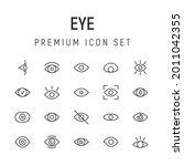 premium pack of eye line icons. ...