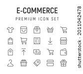 premium pack of e commerce line ...