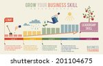 growth business skill... | Shutterstock .eps vector #201104675
