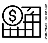 budget calculator icon. outline ... | Shutterstock .eps vector #2011056305