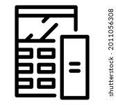 scientific calculator icon.... | Shutterstock .eps vector #2011056308