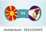north macedonia versus american ... | Shutterstock .eps vector #2011112645