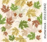 autumn maple leaves seamless... | Shutterstock .eps vector #2011115642