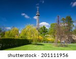 lookout tower on the petrin...   Shutterstock . vector #201111956
