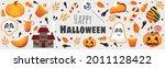 halloween candy set.... | Shutterstock .eps vector #2011128422