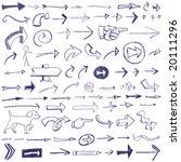arrow doodles | Shutterstock .eps vector #20111296