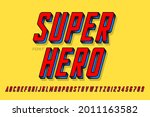 super ero comics style font... | Shutterstock .eps vector #2011163582