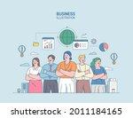 business marketing illustration.... | Shutterstock .eps vector #2011184165