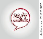 24 hours a day service icon... | Shutterstock .eps vector #2011213862