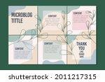 microblog carousel slides... | Shutterstock .eps vector #2011217315