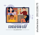 poster of friendship day . in...   Shutterstock .eps vector #2011228175