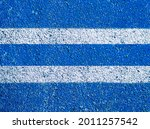 Abstract Blue With White Floor...