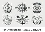 Nautical Vintage Logo Set....