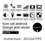 icon design android set  vector ...