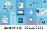 innovative business technology  ... | Shutterstock .eps vector #2011271825
