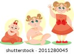stages of a baby. process stage....   Shutterstock .eps vector #2011280045