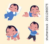 stages of a baby. process stage....   Shutterstock .eps vector #2011280075