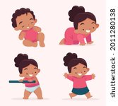stages of a baby. process stage....   Shutterstock .eps vector #2011280138