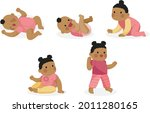 stages of a baby. process stage....   Shutterstock .eps vector #2011280165