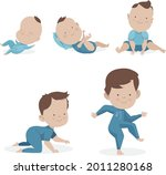 stages of a baby. process stage....   Shutterstock .eps vector #2011280168