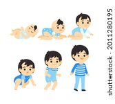 stages of a baby. process stage....   Shutterstock .eps vector #2011280195