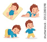stages of a baby. process stage....   Shutterstock .eps vector #2011280198