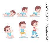 stages of a baby. process stage....   Shutterstock .eps vector #2011280255