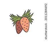 pine  olor line icon. essential ...