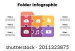 puzzle folder icon illustration....