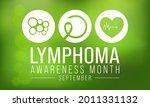 lymphoma awareness month is... | Shutterstock .eps vector #2011331132