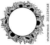 Sunflower Wreath. Isolated On...