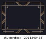 art deco frame. vintage linear... | Shutterstock .eps vector #2011340495