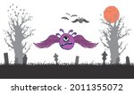 purple and angry monster.... | Shutterstock .eps vector #2011355072