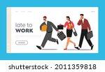 late in office  work landing... | Shutterstock .eps vector #2011359818