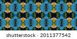 vibrant geometric swimwear...   Shutterstock . vector #2011377542
