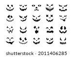 face halloween icon set. black... | Shutterstock .eps vector #2011406285