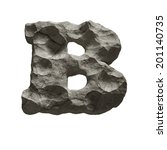 Letter B. Stone Font Isolated...