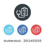 medical report vector icon.... | Shutterstock .eps vector #2011452035