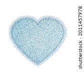 heart denim shape for... | Shutterstock .eps vector #2011457978