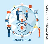 time and money concept. people... | Shutterstock . vector #201145892