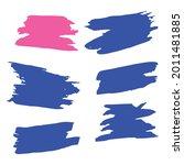 Blue Watercolor Distress. Pink...
