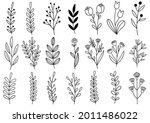 collection forest fern... | Shutterstock .eps vector #2011486022