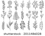 collection forest fern... | Shutterstock .eps vector #2011486028