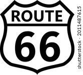 us route 66 sign. shield sign...   Shutterstock .eps vector #2011487615
