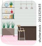 modern room interior design...   Shutterstock .eps vector #2011525655