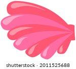 pink seashell on white...   Shutterstock .eps vector #2011525688